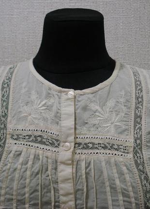 Летняя кофточка блузка с длинным рукавом вышиванка