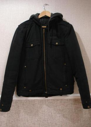 Теплая спортивная коттоновая куртка