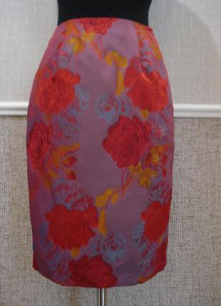 Классическая юбка карандаш с принтом