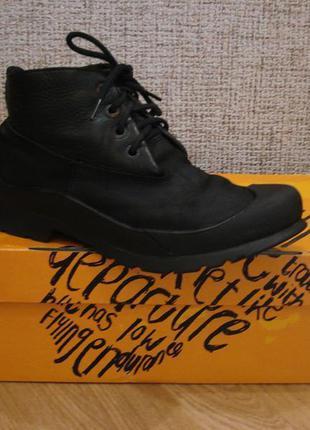 Крутые мартенсы кожаные ботинки на тракторной подошве демисезо...