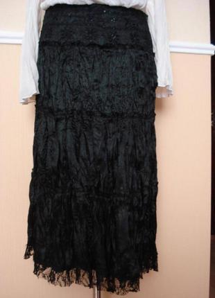 Пышная плиссированная юбка с воланами