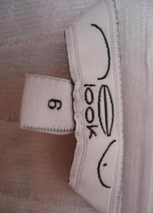 Трикотажная блузка с воротником блузка с жабо и коротким рукав...