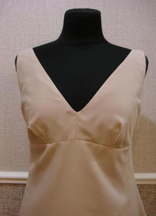 Летнее платье трапеция с открытой спиной бренд triange