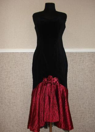 Винтажное вечернее платье в стиле ретро