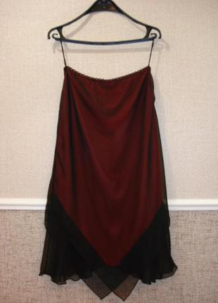 Летняя шифоновая юбка с воланами