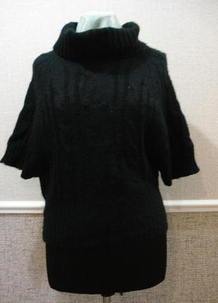 Вязаный свитер свитер с воротником свитер крупной вязки