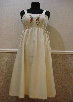 Летнее платье из хлопка с вышивкой бренд st.michael