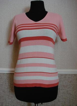 Летняя кофточка приталенная трикотажная блузка
