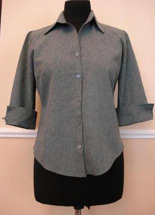 Приталенная рубашка с воротником и рукавом 3\4