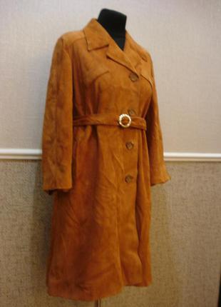 Итальянское демисезонное пальто кожаное пальто осеннее пальто ...