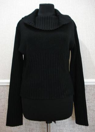 Вязаная кофта с длинным рукавом свитер с воротником