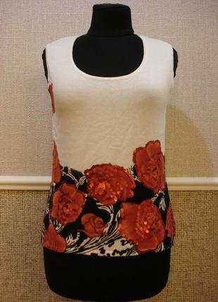 Летняя кофточка трикотажная блузка без рукавов
