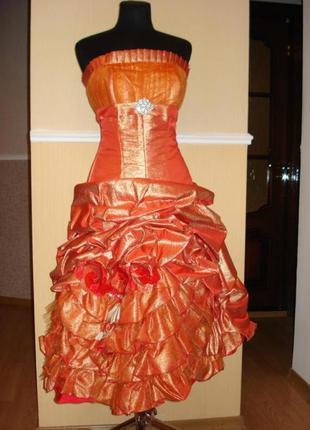Вечернее коктейльное платье с корсетом (украина)