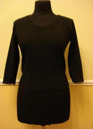 Трикотажная блузка рубашка с рукавом 3\4