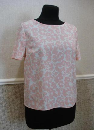 Летняя кофточка блузка с коротким рукавом в цветочек