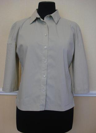 Блузка-рубашка с воротником и рукавом 3\4