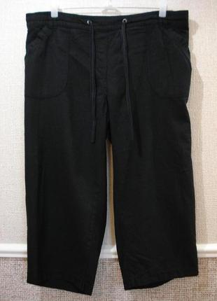 Льняные летние брюки капри большого размера 18(xxxl)