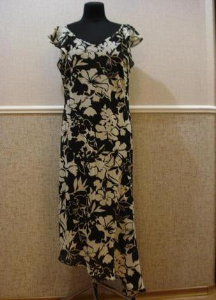 Летнее облегающее платье с принтом в пол большого размера 18 x...
