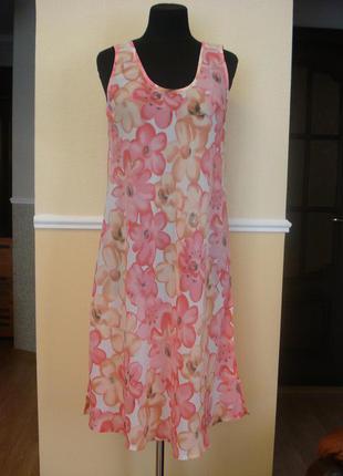 Летнее шифоновое платье-туника подойдет для беременных большог...