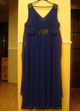 Длинное вечернее платье платье на выпускной большого размера 2...