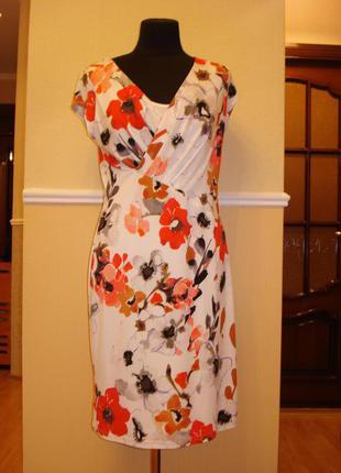 Летнее трикотажное платье футляр  большого размера 16(xxl) бре...