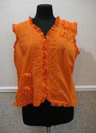 Летняя кофточка блузка без рукавов большого размера 18(xxxl)