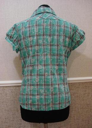 Блузка с воротником блузка с коротким рукавом блузка в клетку ...