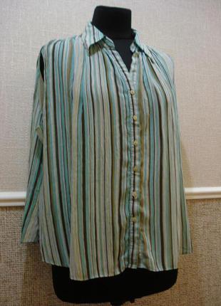 Летняя кофточка шифоновая блузка без рукавов большого размера ...