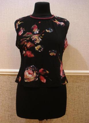 Летняя кофточка блузка из трикотажной сеточки  большого размер...