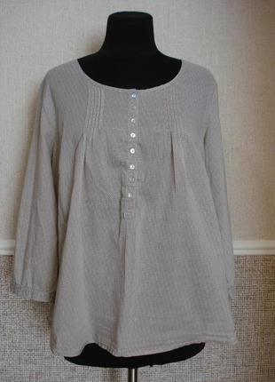 Хлопковая блузка с рукавом 3/4 большого размера 18(xxxl) подой...
