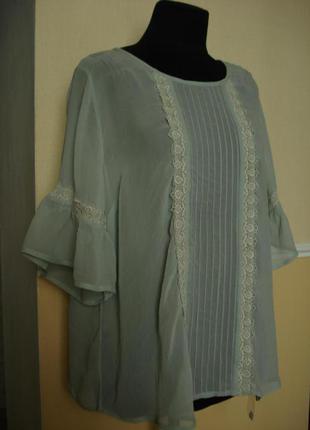 Летняя кофточка шифоновая блузка с рукавом 3/4 большого размер...