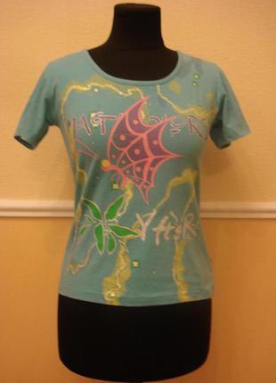 Трикотажная футболка с принтом