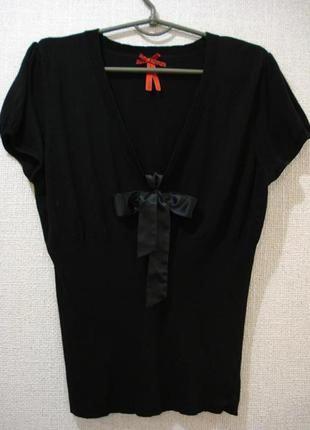 Нарядная блузка трикотажная блузка блузка с бантом большого ра...