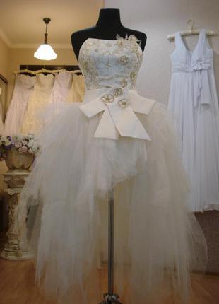 Пышное свадебное платье свадебное платье айвори платье на выпу...