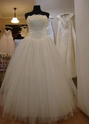 Свадебное платье айвори пышное свадебное платье большого разме...