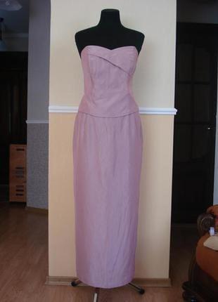 Вечернее платье костюм (юбка с воланами, корсет) большого разм...