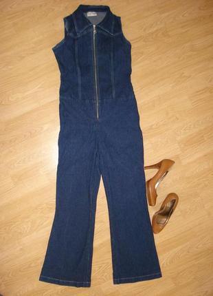 Стрейчевые джинсы женский комбинезон джинсы клеш