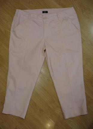 Капри летние укороченные брюки большого размера  16 (xxl )