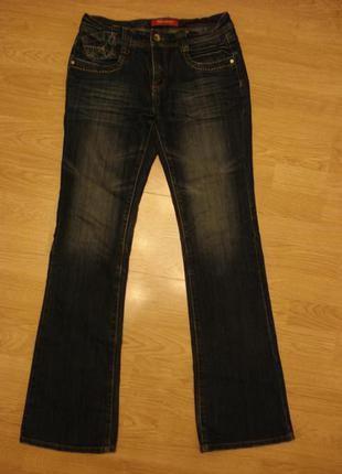 Потертые джинсы бойфренды джинсы с вышивкой бренд xfn jeans 34/35