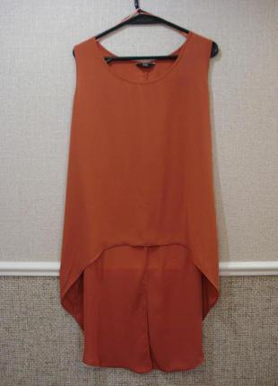 Оригинальная  шифоновая блузка без рукавов большого размера 20...