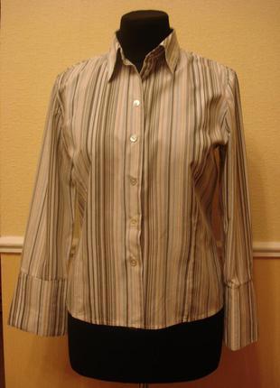 Рубашка в полоску c воротником