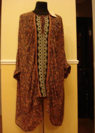 Летняя кофточка туника блуза с рукавом 3\4 большого размера 12...