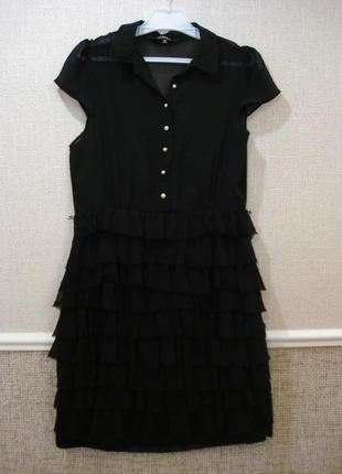 Маленькое черное шифоновое платье