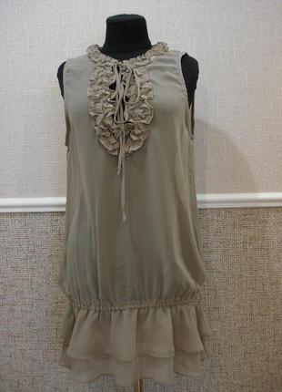 Летнее шифоновое платье туника