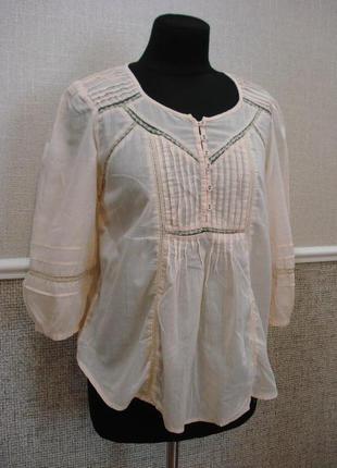 Летняя хлопковая блузка подойдет для беременных