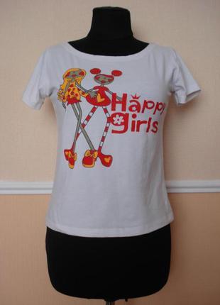 Летняя кофточка трикотажная футболка с принтом