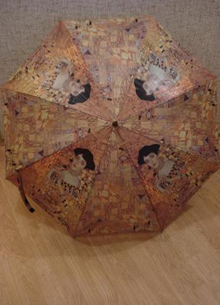 Женский зонт полуавтомат густав климт бренд doppler