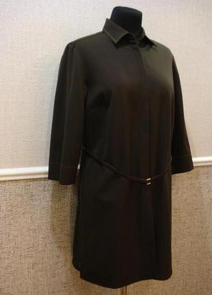 Удлиненный шерстяной пиджак кардиган большого размера 16(xxl).