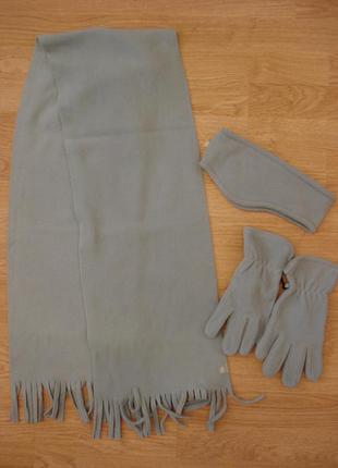 Набор шапка+шарф+перчатки