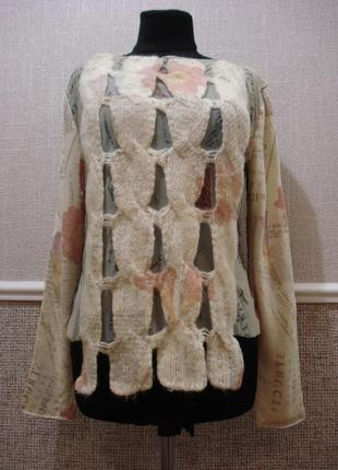 Шерстяная вязаная кофта одежда в стиле кэжуал бренд esteve
